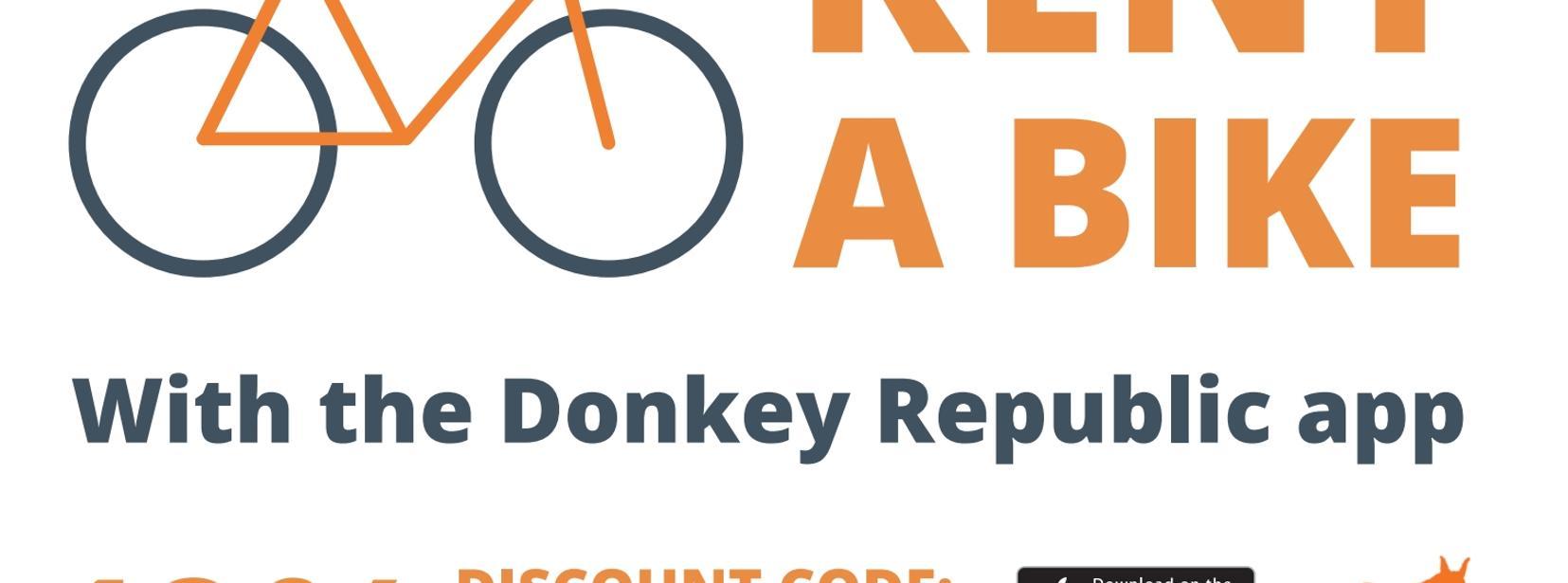 10% discount on Donkey Republic bike rental